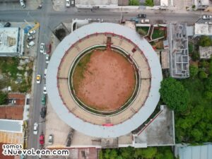Foto aérea plaza de toros Cadereyta