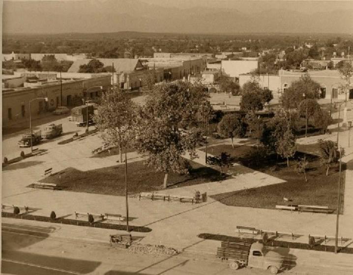 La plaza de Cadereyta 1950